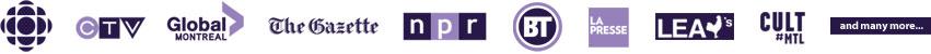 Les logos des organismes du presse